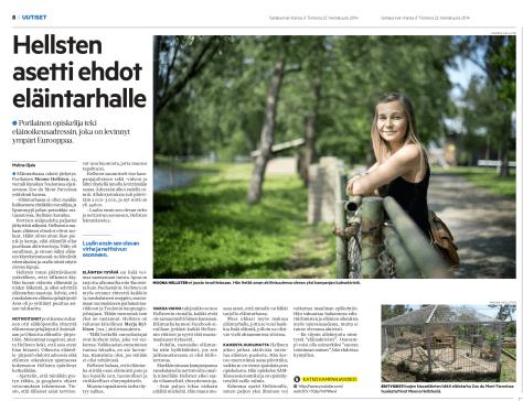 Le Zoo du Faron dans un autre magazine Finlandais