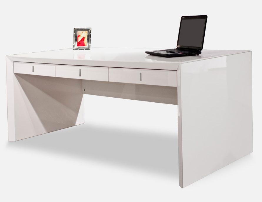 Sh03 White Lacquer Desk