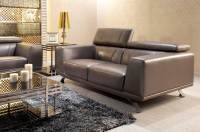 Grey Leather Sofa Set Modern Grey Leather Sofa - TheSofa