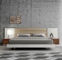 Contemporary White Lacquer Bed SJ871 | Contemporary Bedroom