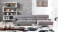 Gray Microfiber Sectional Sofa AE15 | Fabric Sectional Sofas