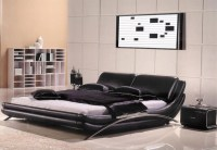 Modern Leather Bedroom AE82   Modern Bedroom Furniture