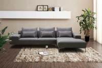 Dark Grey Fabric Sectional sofa NJ Christopher | Fabric ...