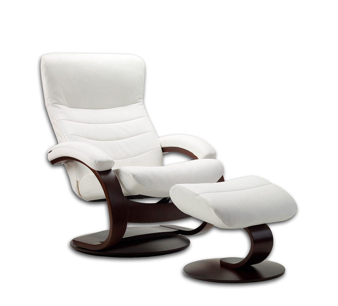 Fjords Trandal Top Grain Leather Small Recliner Fjords