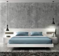 Contemporary white lacquer Bed SJ Aletta | Contemporary ...