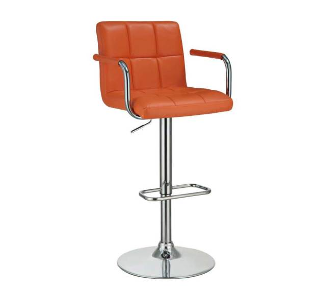 orange modern bar stool 098 stools