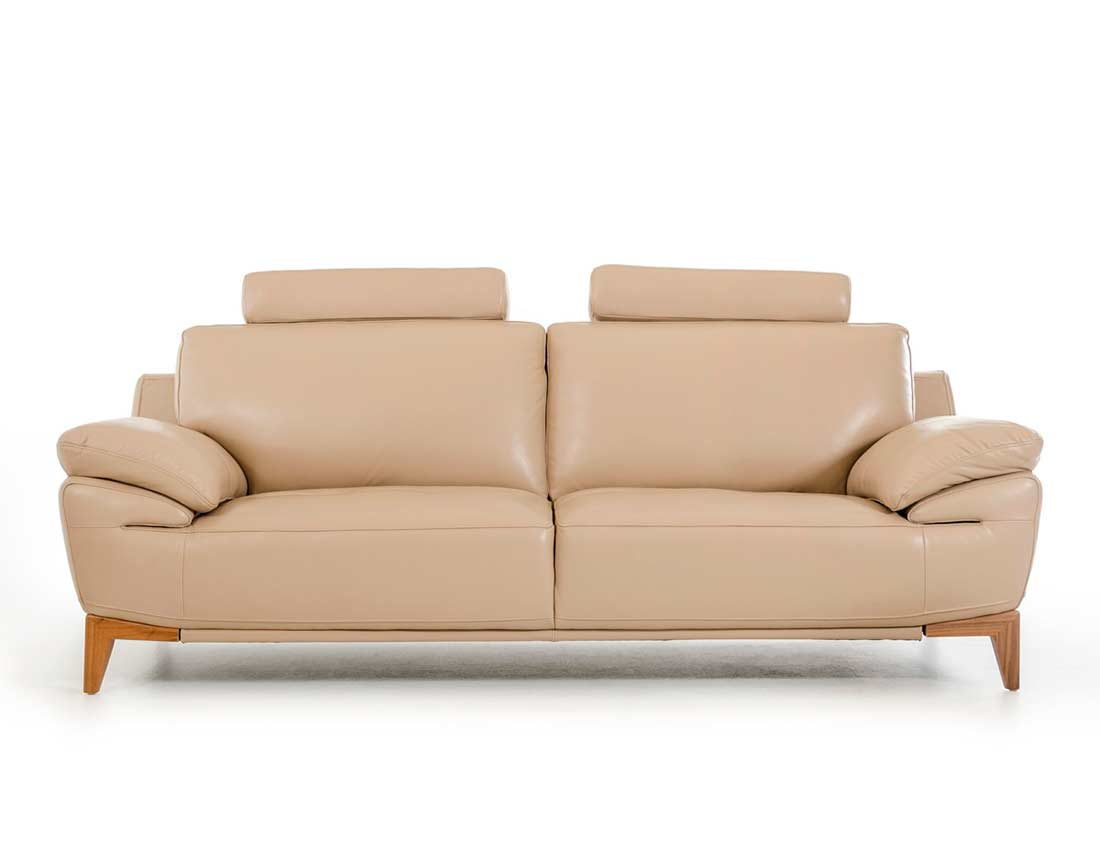 Contemporary Taupe Leather sofa set VG410