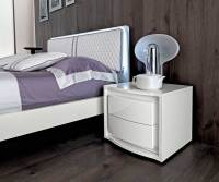 White Lacquer Bed EF Dana | Modern Bedroom Furniture