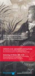 Veranstaltungsflyer zum Vortrag von Volker Hesse (Quelle: bbaw.de)