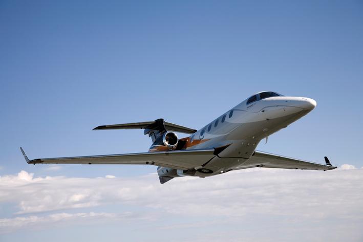 Phenom 300. Imagem: Embraer.