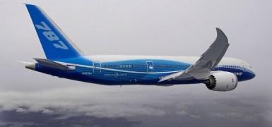 B787 Dreamliner em cruzeiro. Imagem: Boeing.
