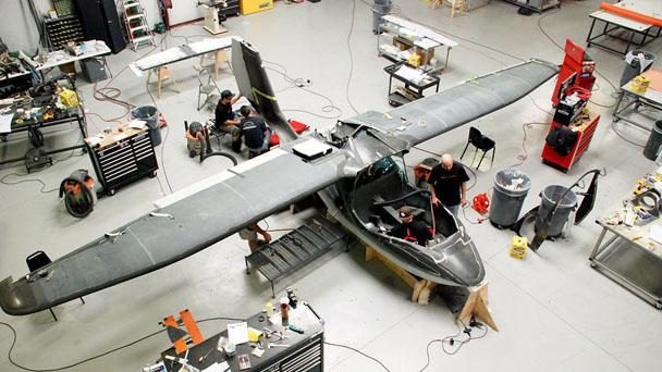 Protótipo do Icon A5 na fase final da construção. Imagem: Icon Aircraft.