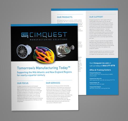 cimquest sell sheet template design - Aviate Creative