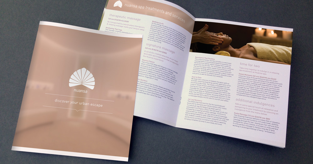 Nuansa Spa Brochure Design - Aviate Creative
