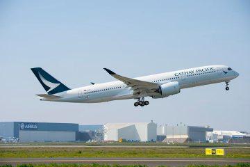 Primo volo di Airbus A350 XWB Cathay Pacific