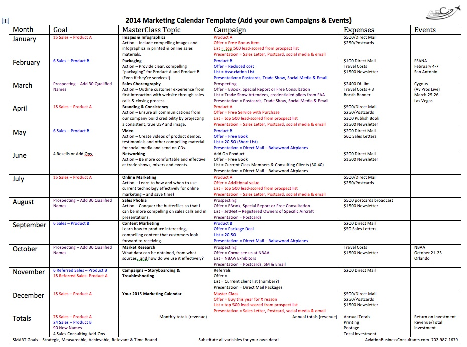 Marketing Calendar Template tristarhomecareinc - sample marketing schedule