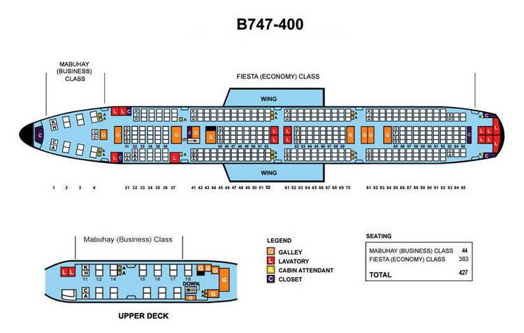 PHILIPPINE Airlines Aircraft Seatmaps - Airline Seating Maps and Layouts