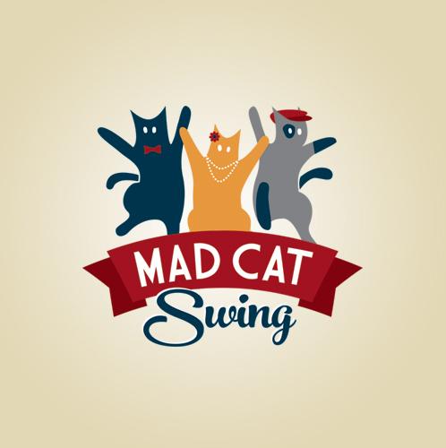 mad-cat-swing-logo-design
