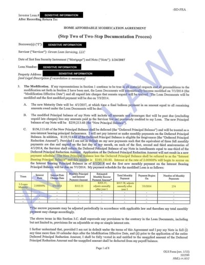 Approved Cases - Loan Modification & Foreclosure Prevention