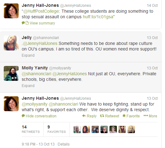 OU Dean of Students Jenny Hall Jones Twitter 2