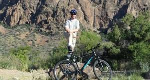 Jonathan Taylor biking Chisos Basin