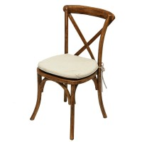 Chairs - Vineyard Cross Back Chairs - AV Party Rental