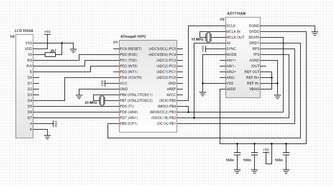 For Avr Wiring Diagram Atmega8 And Ad7710 Adc Avr Freaks