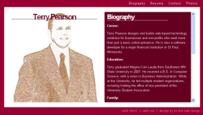 Terry Pearson - Business Card / Resume
