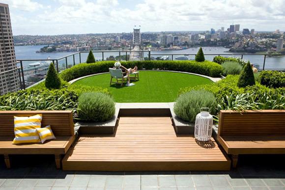 Interior Design Ideas Small Living Room A garden on the roof terrace   Interior Design Ideas   AVSO.ORG