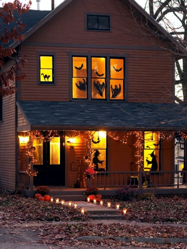 Ideas on how to decorate your windows with paper cutouts