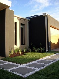How can one create his front garden design modern ...