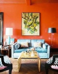 Paint walls  paint ideas for orange wall design ...
