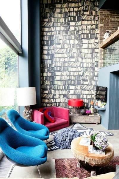 Living room wall design ideas – cool examples of wallpaper pattern   Interior Design Ideas ...