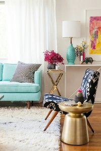 Decorating ideas for modern side tables made of wood and ...