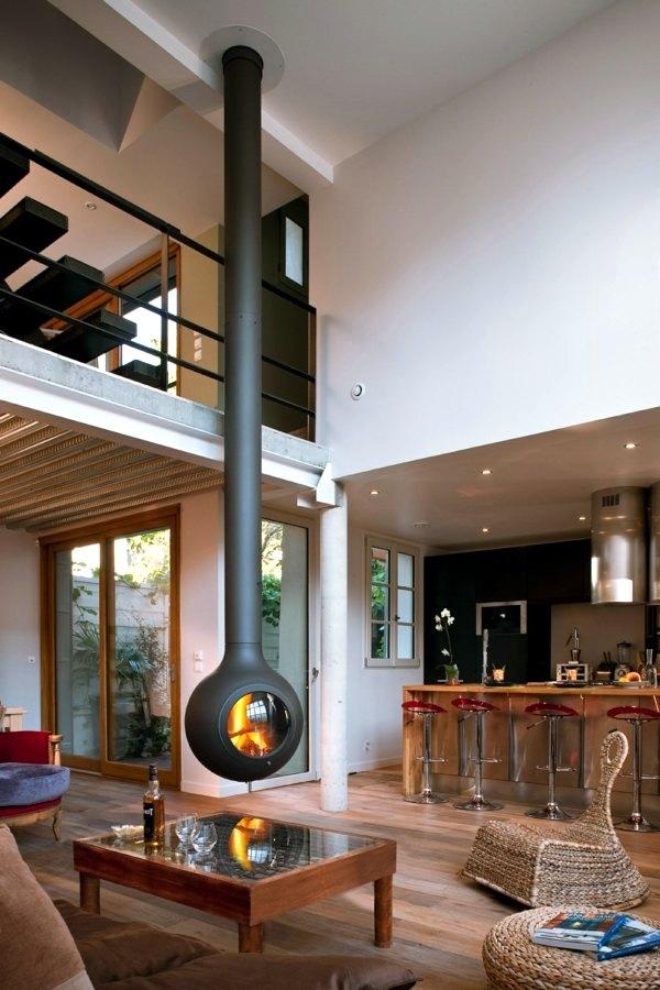 20 design ideas for hanging stove in modern house Interior - wohnideen modern