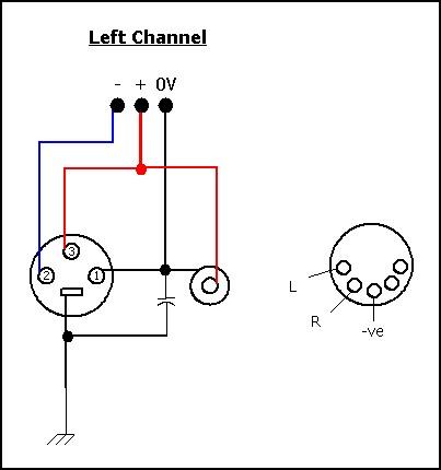 xlr to rca connection diagram