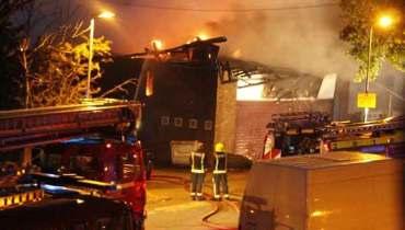 islamic centre burnt in london