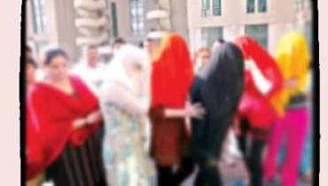 call girls arrested blur image