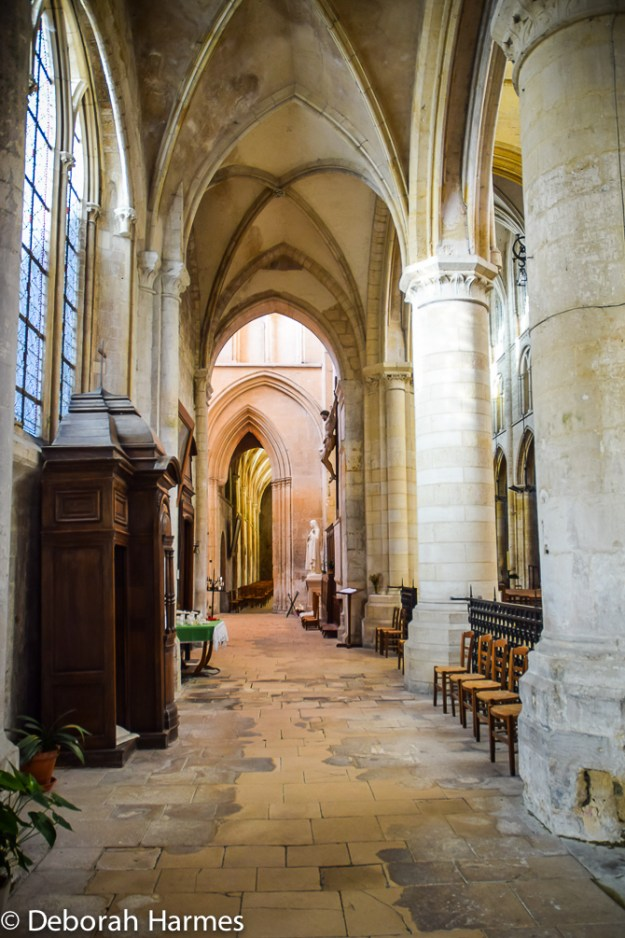 A side aisle in the abbey.