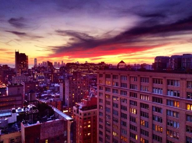 A fall NYC sunset