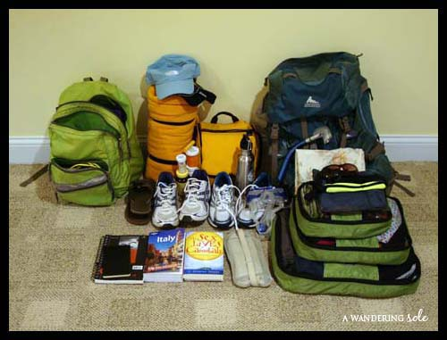 Packing for an 8 month around the world trip