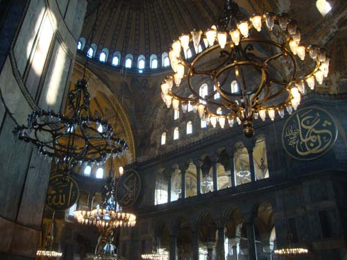 Hagia sophia istanbuls architectural masterpiece a wandering sole light filters in aloadofball Images