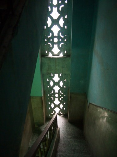 In the stairwell of our casa particular in Centro Havana