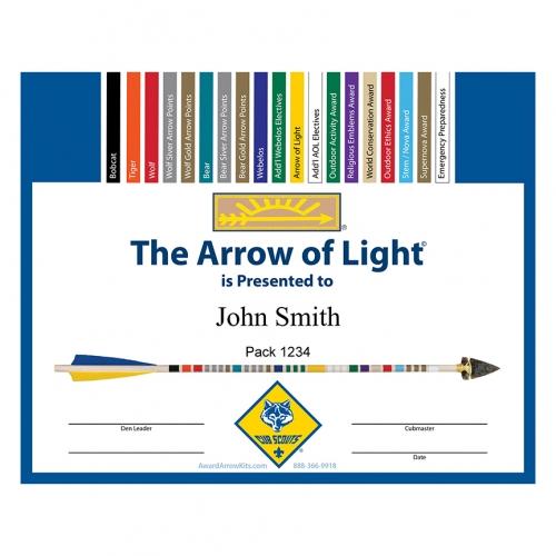 arrow of light certificate template - Stem Certificate Template