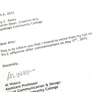 It\u0027s Official Retirement Letter - April 10, 2012 - retirement letter