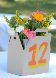 DIY Wedding Flower Centerpieces // A Well Crafted Party
