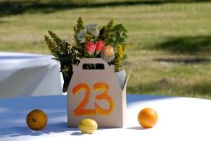 Orange and Yellow Wedding Centerpieces