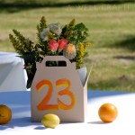 Lunch Boxes doubled as centerpieces