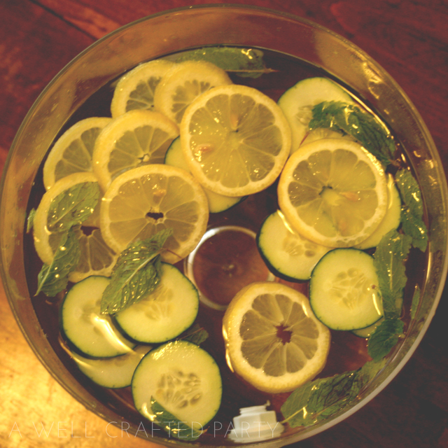 Lemon Mint and Cucumber Water