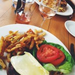 My amazing beef and brie burger and rose